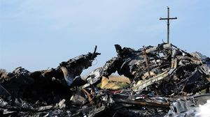 Restos del avión de Malaysia Airlines que fue derribado en Ucrania.