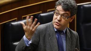 Álvaro Nadal, ministro de Energía, durante unpleno del Congreso de los Diputados.