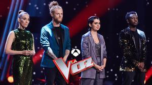 Gran final de 'La voz' en Antena 3: Curricé, Paula Espinosa, Johanna Polvillo y Kelly lucharán por la victoria