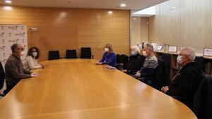 Reunión entre el gobierno de Mollet del Vallès y familiares de Marta López.