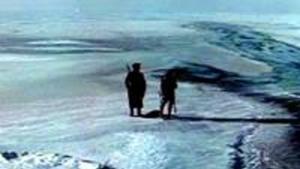 Un fotograma de la película Dersu Uzala, filmada en la taiga rusa.