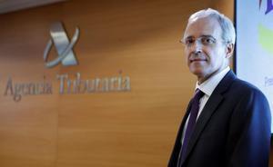 Comienza la campaña de la renta 2020. En la foto, Jesús Gascón, director general de la Agencia Tributaria.
