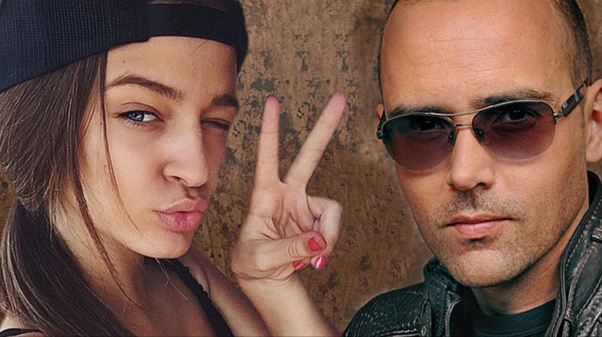 Risto Mejide y la modelo Laura Escanes.