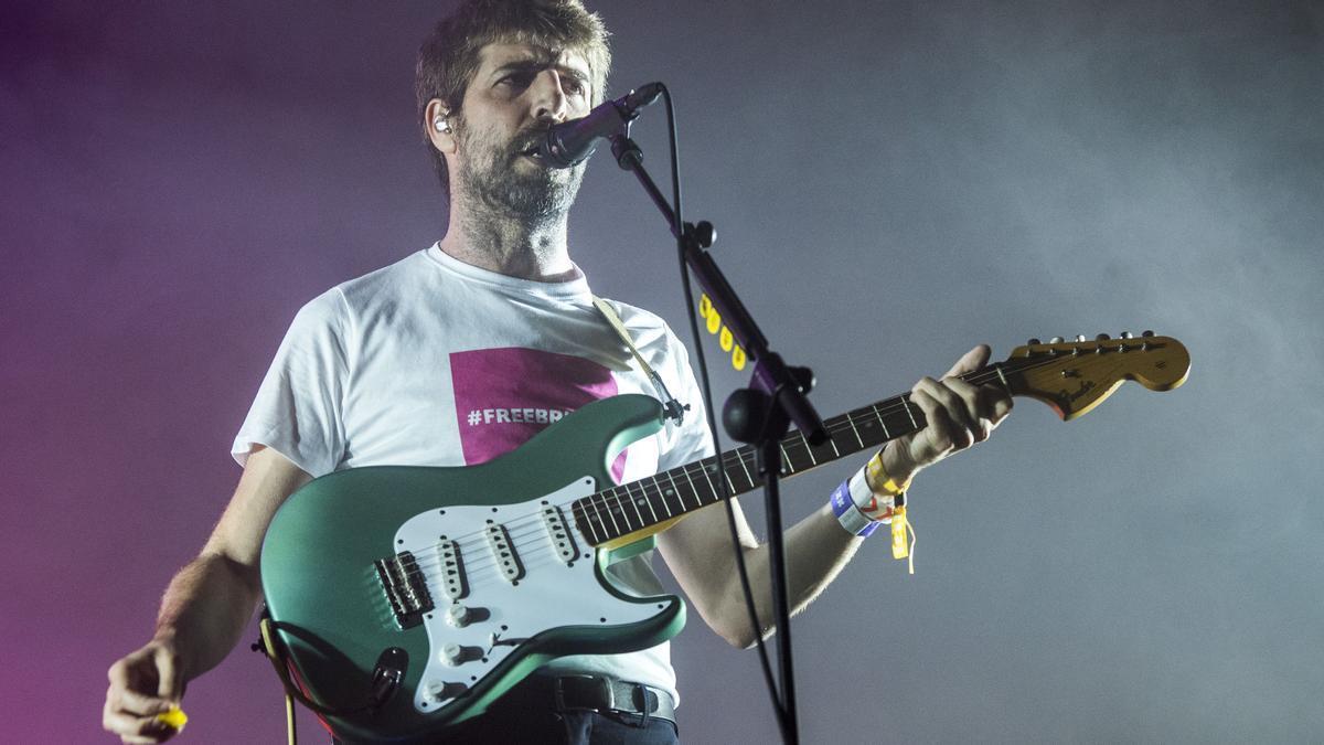 Guillem Gisbert, durante el concierto de Manel en la segunda jornada del festival Cruïlla