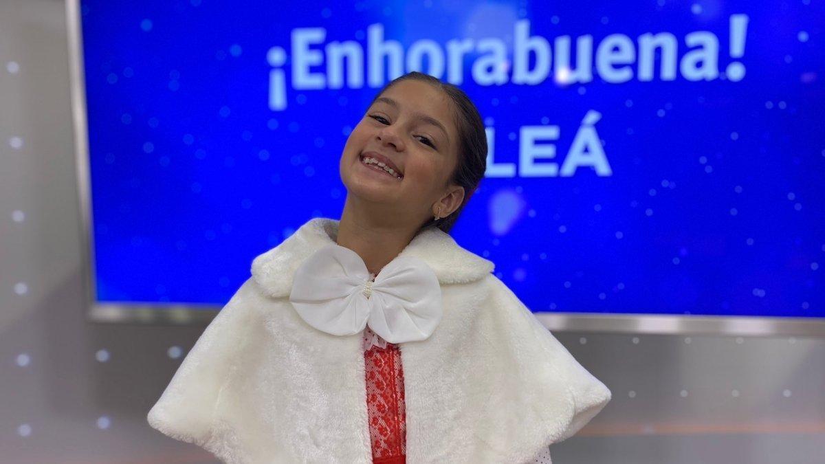 Soleá en la sala de prensa de RTVE tras quedar tercera en Eurovisión Junior 2020.