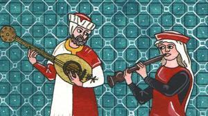 'Power dúo' de laúd y flauta para el deleite de los jóvenes neogóticos.