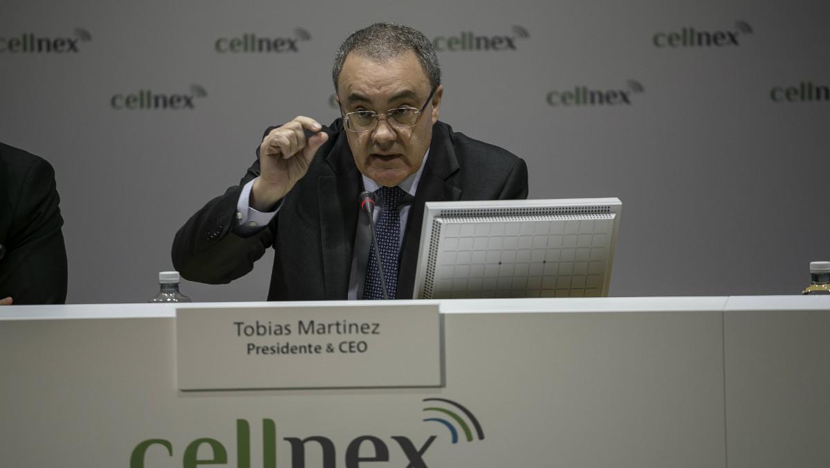El consejero delegado de Cellnex, Tobías Martínez.