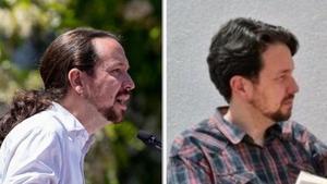 Pablo Iglesias, antes y después.