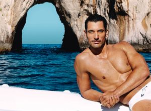 El modelo británico David Gandy, uno de los hombres más bellos del planeta, según las revistas de moda.