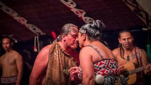 Maorís en una ceremonia tradicional en Nueva Zelanda, en mayo del 2017.