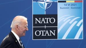 Biden en la reunión de la OTAN en Bruselas.