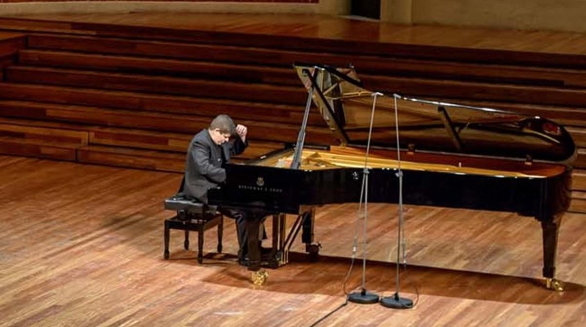 El pianista Javier Perianes, en el Palau de la Música.