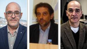 Ramon Lamiel, Josep Pera y Joan Uribe.