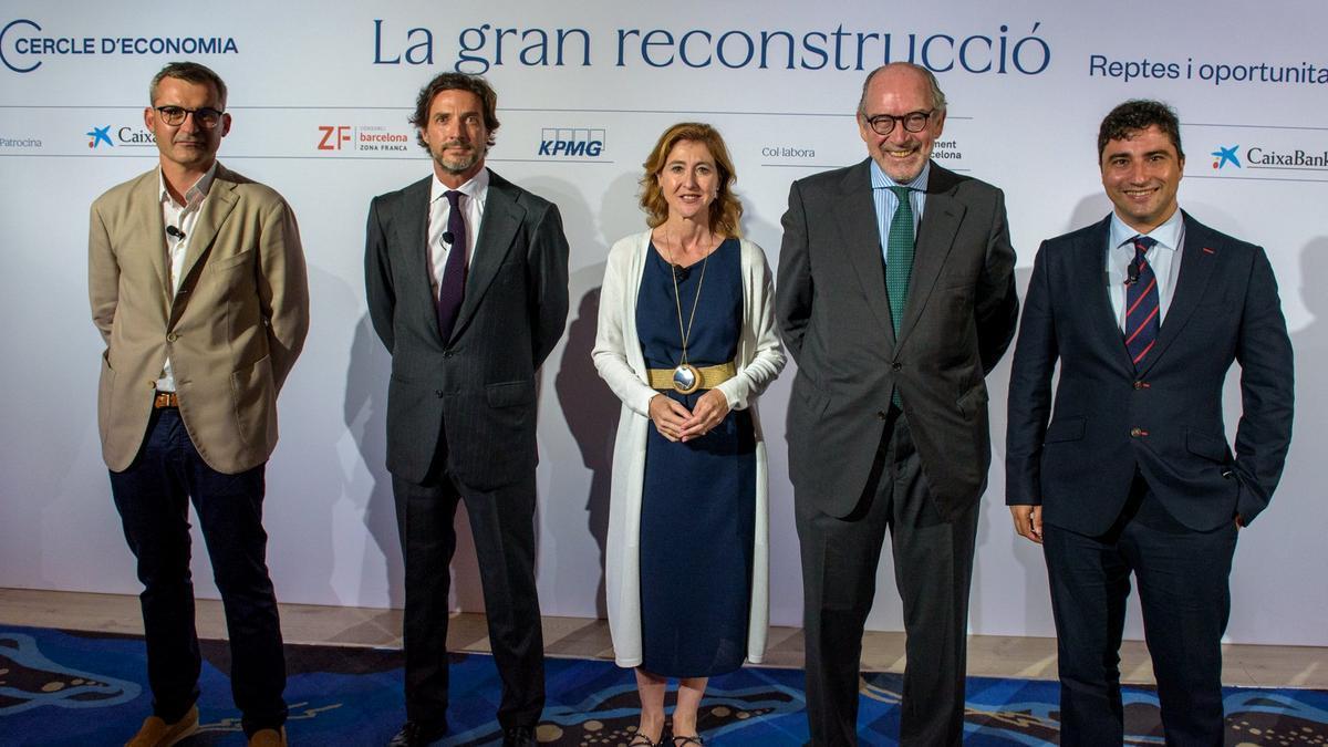 David Pellicer, Javier Goyeneche, Laura Urquizu, Pedro Fontana y Joaquín cuenca