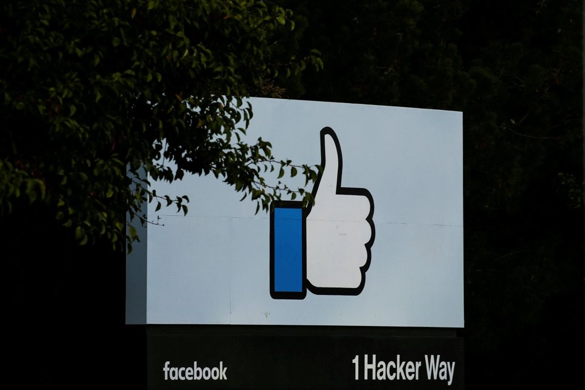 The entrance sign to Facebook headquarters is seen in Menlo Park  California. REUTERS Elijah Nouvelage