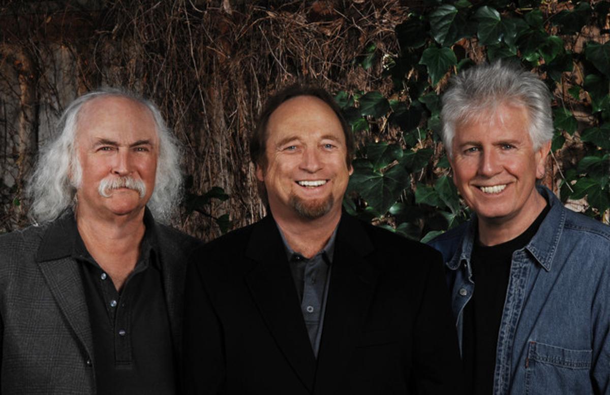 David Crosby, Stephen Stills y Graham Nash, en una imagen promocional.