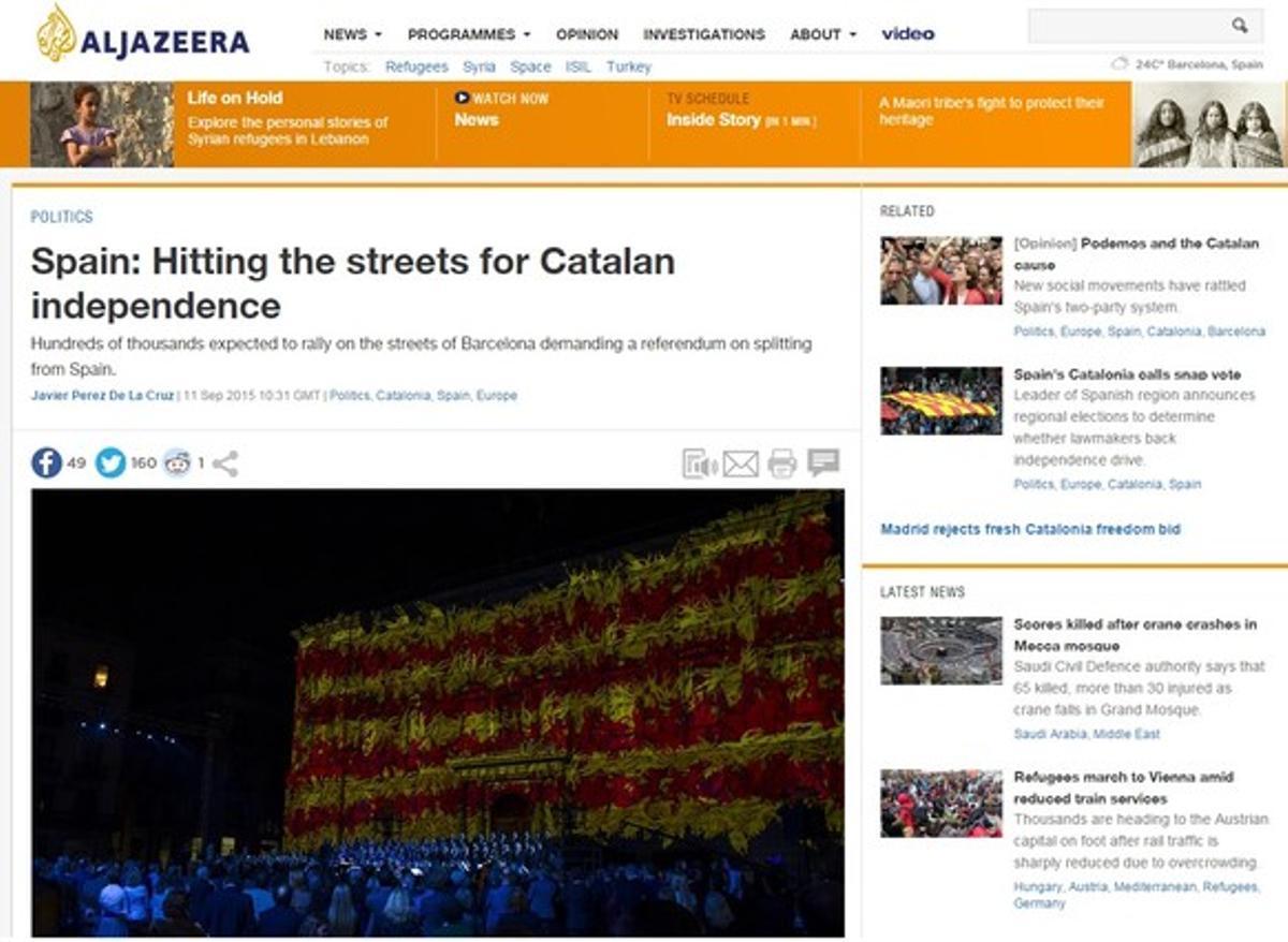 La Diada, vista por los medios internacionales