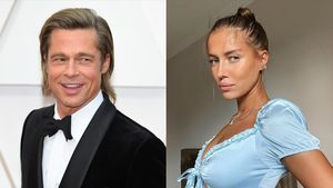El actor Brad Pitt y la modelo Nicole Poturalski,