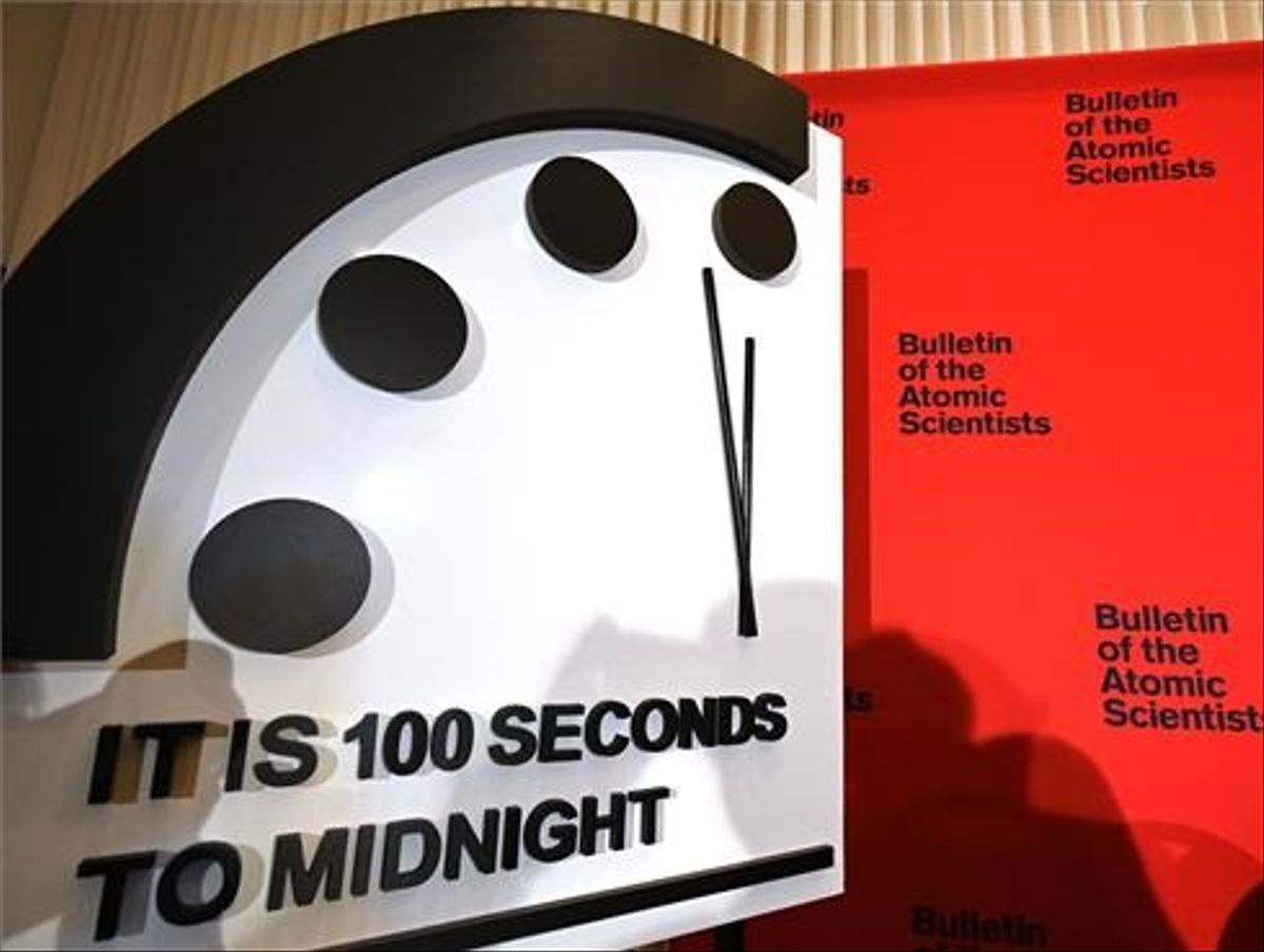 El Reloj del Fin del Mundo, a 100 segundos de la medianoche