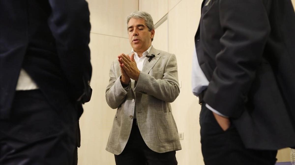 Francesc Homs, en una reciente rueda de prensa.