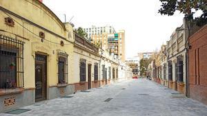 El nuevo aspecto del pasaje de Antoni Gassolconvertido en calle peatonal.
