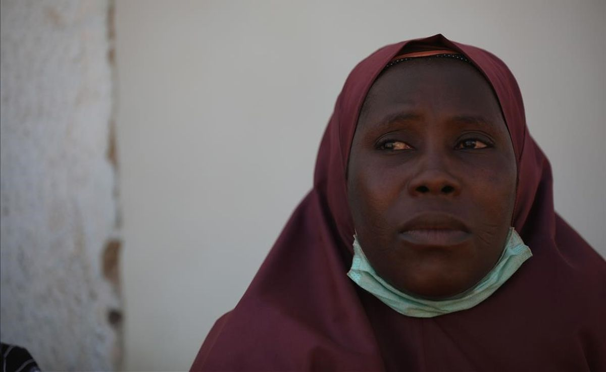A woman whose son was abducted looks on inside the Government Science where gunmen abducted students in Kankara  in northwestern Katsina state  Nigeria December 15  2020  - Boko Haram on Tuesday claimed the abduction of hundreds of students  marking its first attack in northwestern Nigeria since the jihadist uprising began more than ten years ago  (Photo by Kola Sulaimon   AFP)