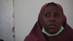 La madre de uno de los estudiantes secuestrados hace unos días por Boko Haram.