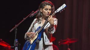 Katie Melua durante su actuación en el Sant Jordi Club.