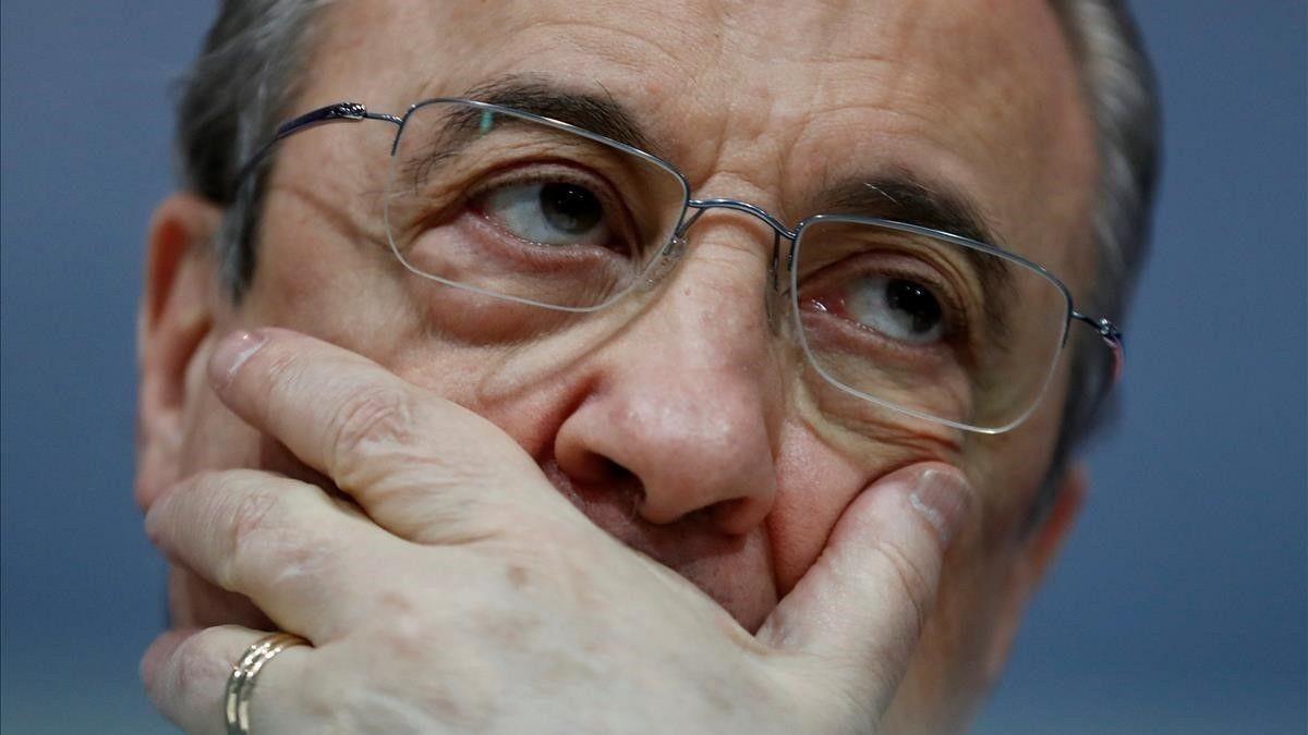 Florentino Pérez, en una rueda de prensa.