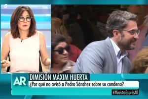 """Ana Rosa, sobre Màxim Huerta: """"Está bien que haya dimitido, no podía hacer otra cosa"""""""