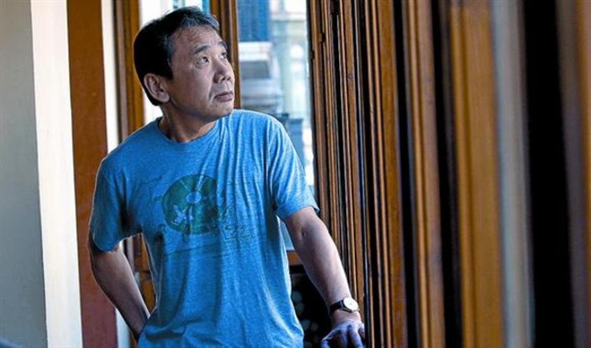 Haruki Murakami, en Casa Àsia durante su primera visita a Barcelona, en marzo del 2009.