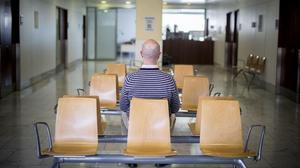 Una sala de espera en el Hospital de Sant Pau.