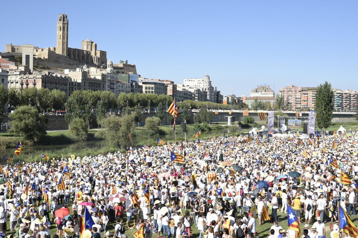 La manifestación de Lleida.