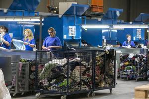 Imagen de archivo de una planta de reciclaje textil