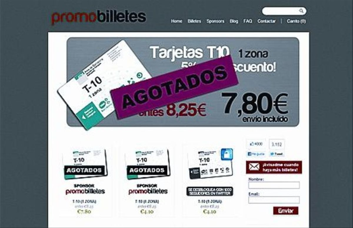 A la izquierda, la página web de promobilletes.com. A la derecha, una imagen del portal memetro.net.