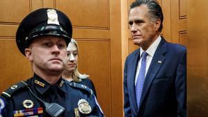 Mitt Romney, el único republicano que votó contra Trump en el 'impeachment'.