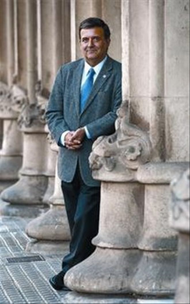 El candidato de Solidaritat, Alfons López Tena, el lunes en Barcelona.
