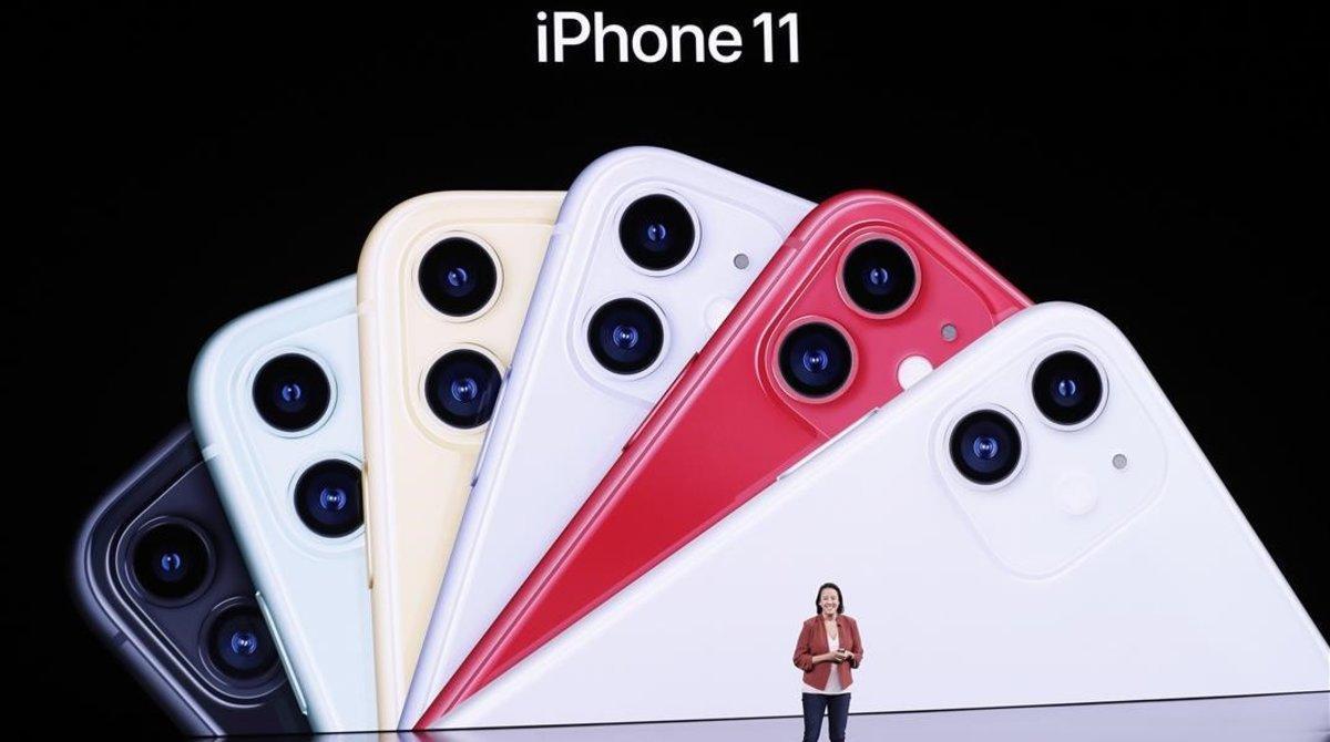 Presentación de los nuevos iPhone 11 de Apple.