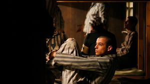 Momento del rodaje de 'El fotógrafo de Mauthausen'.