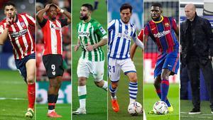 Luis Suárez, Iñaki Williams, Fekir, David Silva, Umtiti y Zidane, algunos de los casos de covid de la Liga.