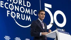 Sánchez ven la seva agenda digital i climàtica als inversors de Davos