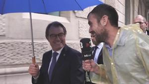 Joel Díaz con Artur Mas ('APM', TV-3).