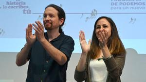 Pablo Iglesias y Ione Belarra en una foto de archivo