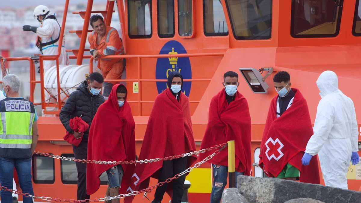 Emigrantes rescatados al nordeste de Fuerteventura.