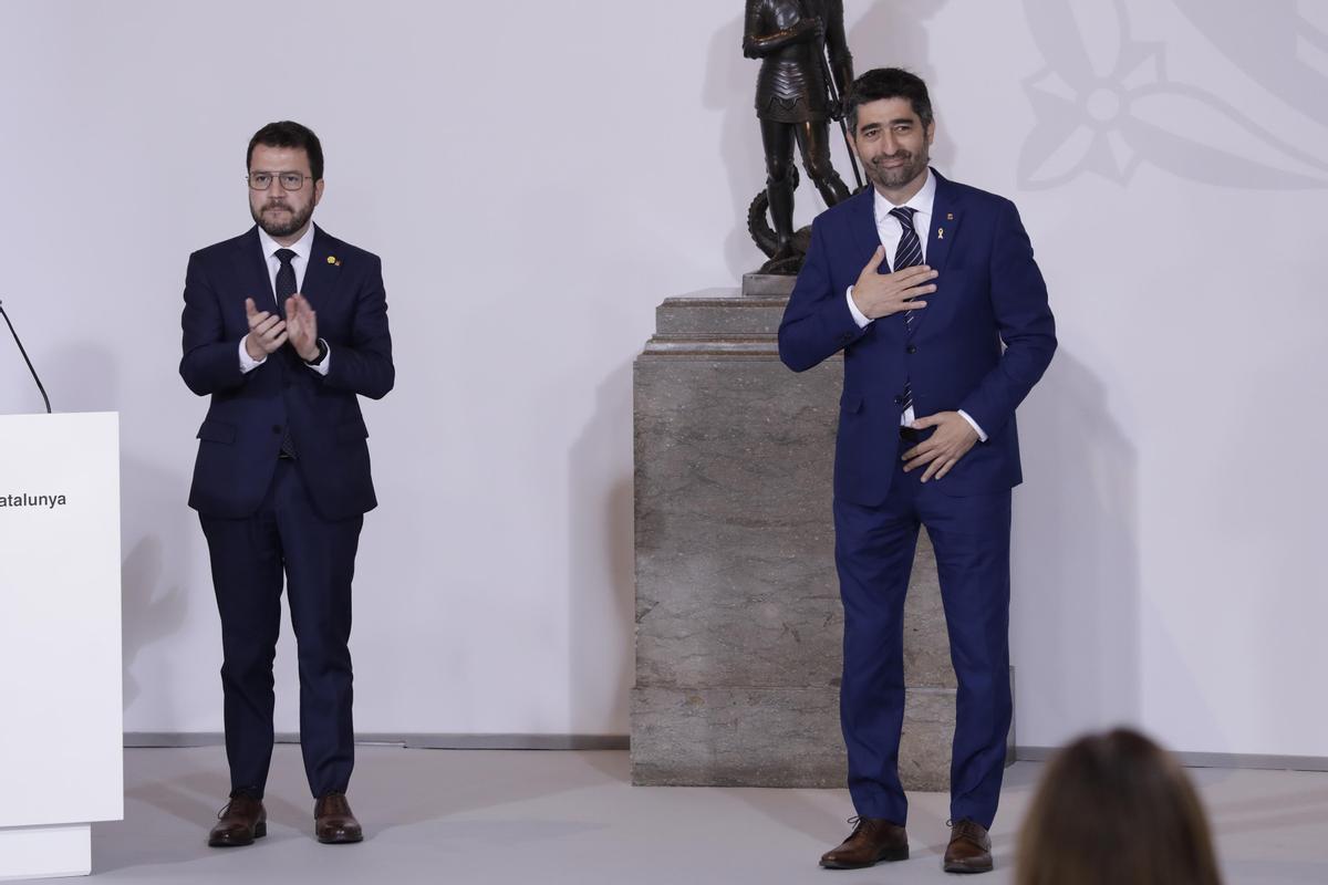 Pere Aragonès y Jordi Puigneró.