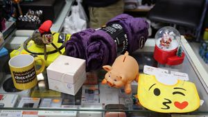Objetos de un bazar chino, característicos regalos del amigo invisible.