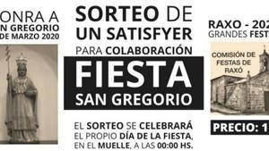 Cartel de las fiestas de San Gregorio de la parroquia de Raxó.