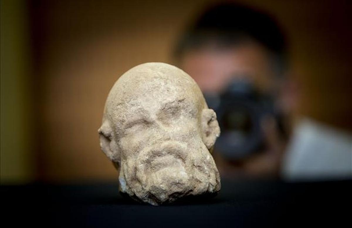 La cabeza de mármol romana hallada en La Sagrera.