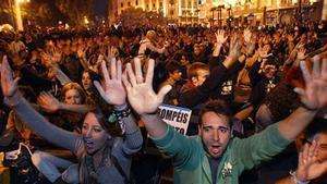 Manifestación de 'Rodea el Congreso', en el 2012.