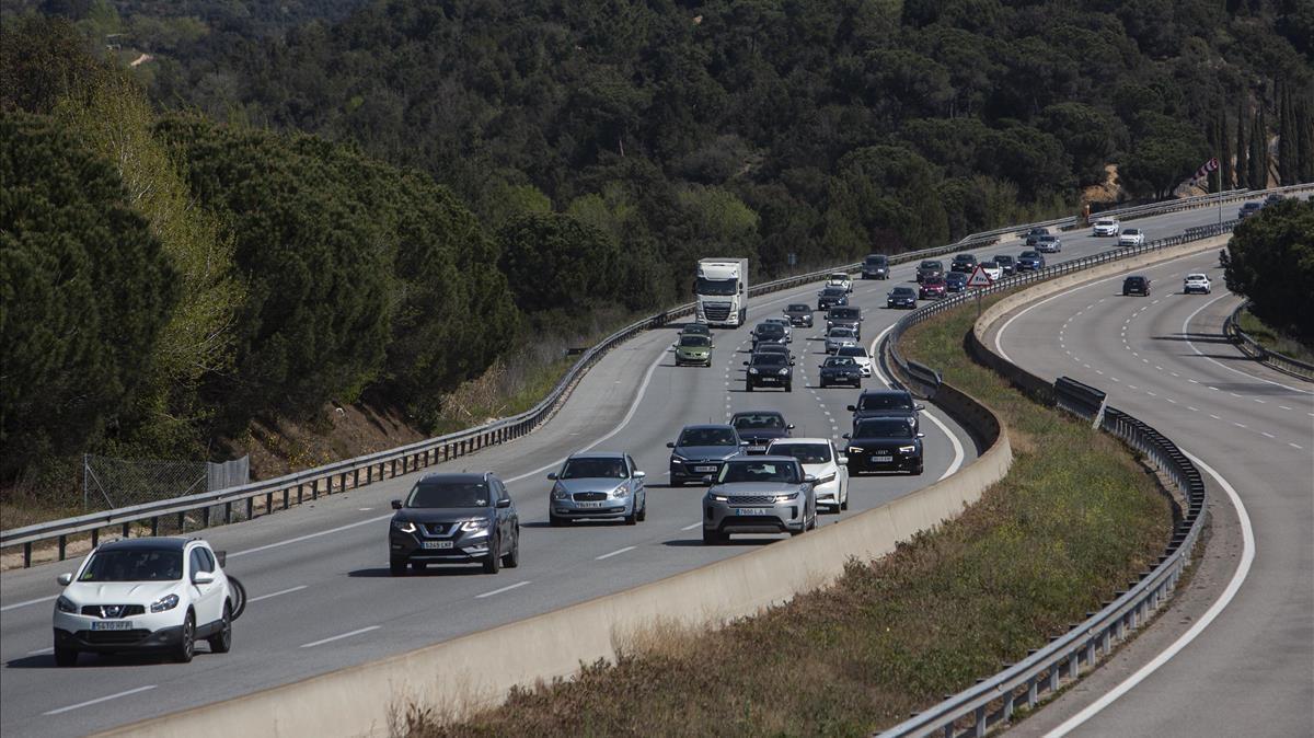 La autopista AP-7, a la altura de Maçanet, poco antes de la hora crítica de la operación retorno.
